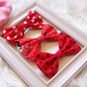 Minnie Mouse Bundle hair Bows